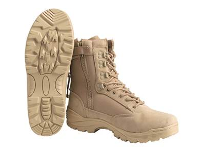 Chaussures Tactical Cordura Tan zip T41/8