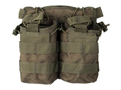 Porte chargeurs double M4/M16 Olive open top (fixation Molle)