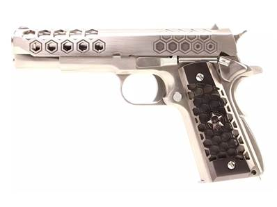 WE 1911 Hex Cut Chrome GAZ Blowback 0.9J