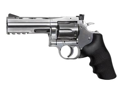 "Dan Wesson 715 4"" 4.5mm(.177) Silver CO2 2.7J"