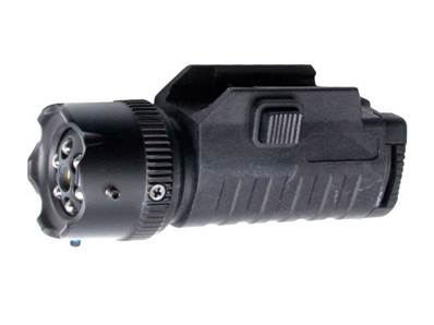 Strike Systems Lampe tactique 6 leds + laser réglable