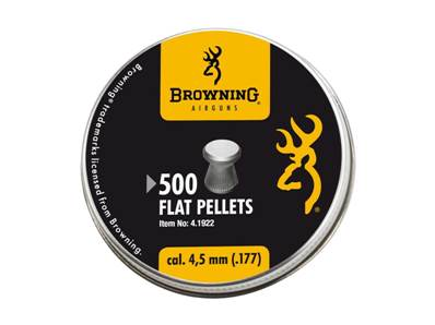 Browning Plombs plats 4.5 mm (.177) Pellet (x 500)